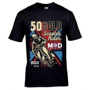 Premium 50 Year Old Scooter Rider MOD Slogan Retro Scooterist Motif 50th Birthday Gift T-shirt Top